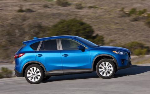The 2013 Mazda CX-5 Sport offers an optional six-speed manual.