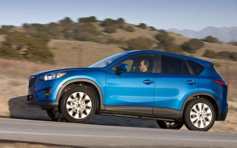 The 2013 Mazda CX-5 Sport offers a fun driving experience with best-in-class handling.
