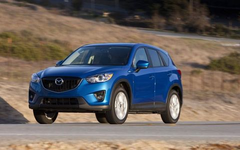 Powered by a 2.0-liter engine, the 2013 Mazda CX-5 Sport has 155 horsepower available.