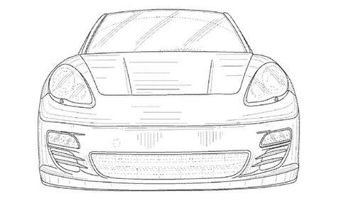 Automotive design, White, Bumper, Line, Automotive lighting, Grey, Hood, Black-and-white, Artwork, Hardtop,