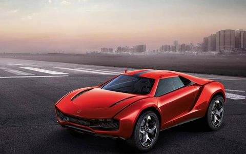 Ground clearance for the electronically adjustable suspension range is roughly five inches in the Parcour concept.