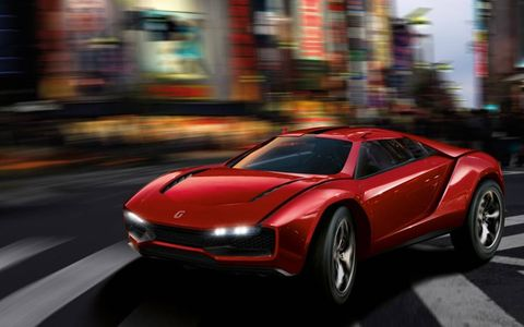 The Parcour concept is equipped with a 550 hp Lamborghini 5.2- liter V10.