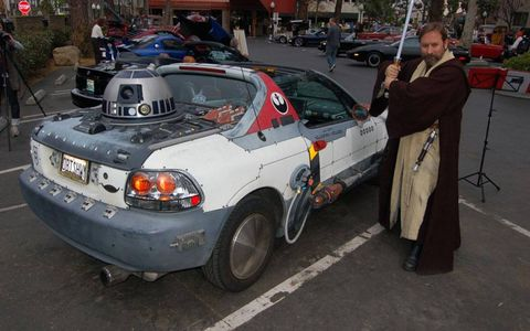 """Obi Shawn"" Crosby shows off his one-of-a-kind Star Wars car."