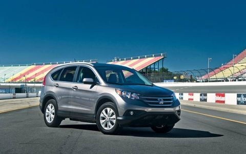 The 2012 Honda CR-V isn't fast, but a 9.7-second 0-60-mph time is respectable for an SUV.