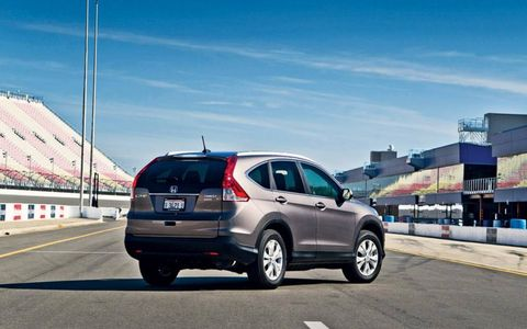 The 2012 Honda CR-V has a five star crash-test rating from NHTSA.