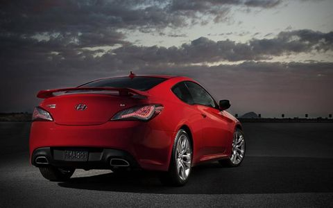 The Hyundai Genesis Coupe 2.0T R-Spec has an available 274 hp to supply the rear wheels.