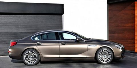 The 2013 BMW 6-series Gran Coupe is pictured here in production guise for the first time.