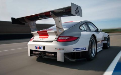 The Porsche 911 GT3 R race car for the 2013 season.