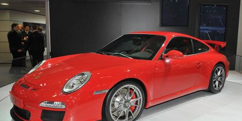 Porsche unveiled the 911 GT3 at the Geneva motor show.