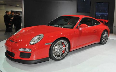 Porsche unveiled the 911 GT3 at the Geneva motor show.