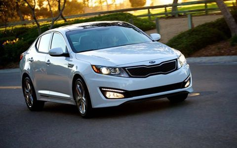 The 2013 Kia Optima SXL is powered by a turbocharged 2.0-liter four-cylinder making 274 hp and 269 lb-ft of torque.