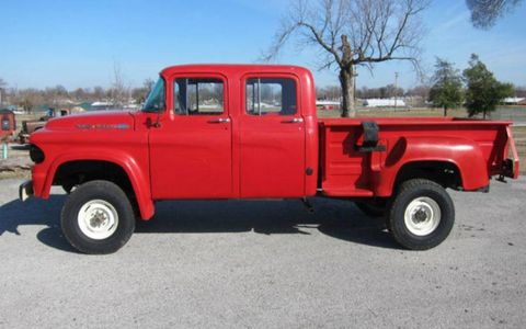 The seller claims this Power Wagon is one-of-a-kind with a stretch reportedly performed by Legacy Power Wagon.