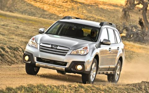 The 2013 Subaru Outback 2.5i Limited receives an EPA estimated 30 mpg on the highway.