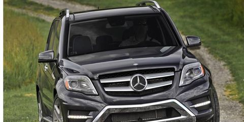 The 2013 Mercedes-Benz GLK350 4Matic is powered by a 3.5-liter V6 making 302 hp and 273 lb-ft of torque.