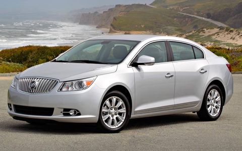 The 2012 Buick LaCrosse's eAssist powertrain is rated a total of 172 hp.