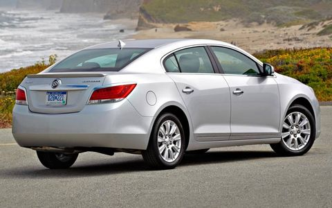 The 2012 Buick LaCrosse with eAssist has a curb weight of 4,026 pounds.