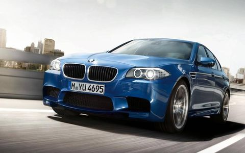 The 2013 BMW M5 retains classic BMW styling while adding more aggressive body lines.