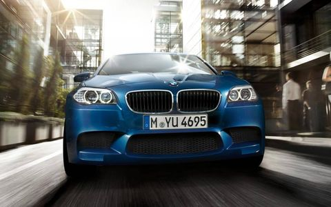 The 2013 BMW M5 is equipped with a turbocharged 560hp V8 engine.