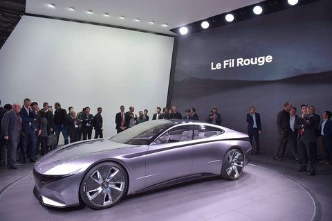 Hyundai unveiled the Le Fil Rouge concept at the 2018 Geneva International Motor Show.
