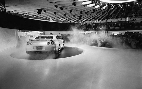 The official unveiling of the Nissan GT-R at the Tokyo motor show was hot, despite photos leaked the week prior.