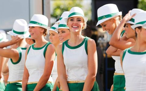 Opening day of the Formula One season in Australia also meant opening day for the series' grid girls.