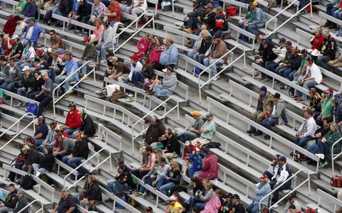 The stands were far from full at Bristol.