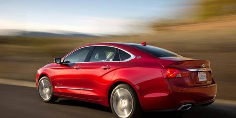 The exterior of the 2014 Chevrolet Impala is sculpted by the wind so well that the four-cylinder version comes in under 0.30 cd.