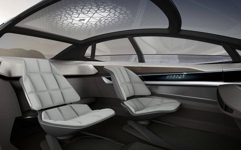 Audi says the idea behind AI is to see what's possible in offering systems that relieve owner stress while also offering them new ways to more-productively use the time spent in the car.