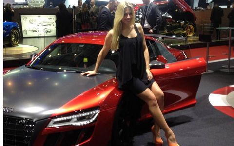 Audi displayed the ABT along with a booth babe at the 2013 Geneva motor show.