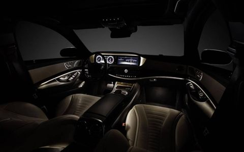 The instrument panel of the new Mercedes-Benz S-class.