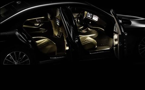 A view of the interior of the new Mercedes-Benz S-class sedan.