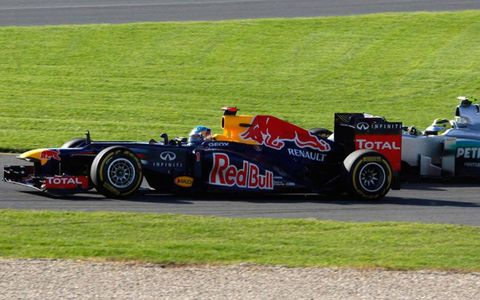 Defending series champion Sebastian Vettel was in contention at Melbourne on Sunday.