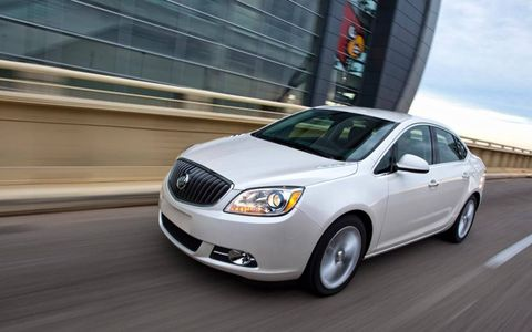 The 2013 Buick Verano Turbo is powered by a turbocharged 2.0-liter four-cylinder engine making 250 hp and 260 lb-ft of torque.