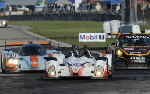 Action from the 12 Hours of Sebring on Saturday.
