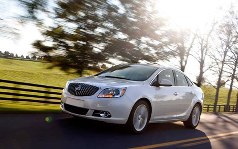 The 2013 Buick Verano Turbo has tons of power down low in the rev range, which adds to the car's fun drive character.
