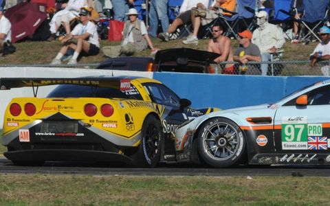There was a little trading paint going on at Sebring on Saturday.