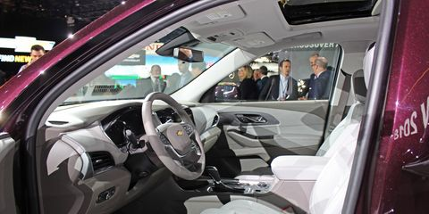 The 2018 Chevrolet Traverse debuted at the Detroit auto show.