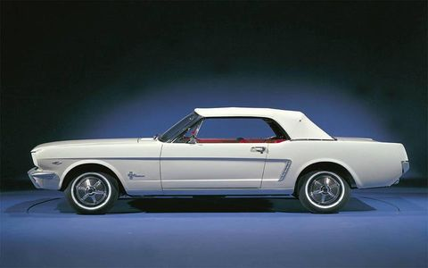 This is where it all started--the 1964 1/2 Ford Mustang.