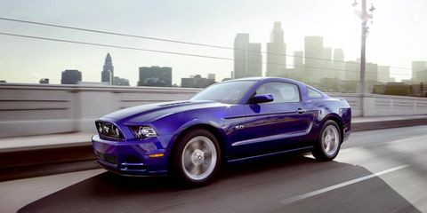 The Ford Mustang has been mildly massaged for 2013