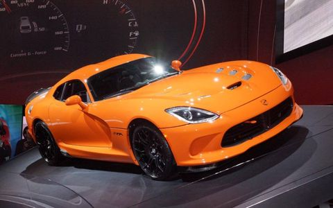 The 2014 SRT Viper TA gets a larger brake package and solid sway bars.