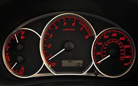 Mode of transport, Speedometer, Transport, Red, Tachometer, Gauge, Orange, Carmine, Black, Measuring instrument,