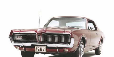 A 1967 Mercury Cougar in its prime.