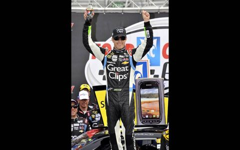 Kasey Kahne got the chance to celebrate in the Winner's Circle at Bristol.