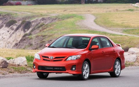 The Toyota Corolla S special edition gets 17-inch alloy wheels and a special Hot Lava red exterior color.