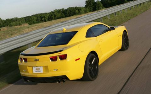 The 2013 Chevrolet Camaro 1LE is powered by a 6.2-liter V8 producing 426 hp.