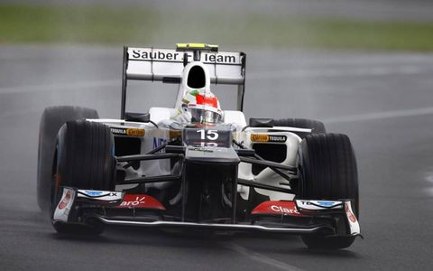 2012 Australian Grand Prix- Sergio Perez, Sauber C31 Ferrari.