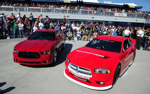 SRT Motorsports unveiled the 2013 Dodge Charger that will compete in the NASCAR Sprint Cup Series next season at Las Vegas Motor Speedway.