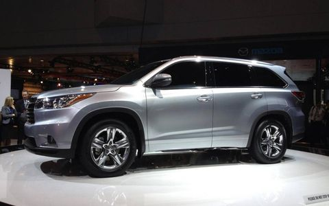 The 2014 Toyota Highlander at the New York auto show.