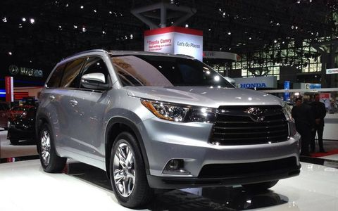 2014 Toyota Highlander at the new York auto show.