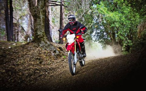The 249cc liquid-cooled and fuel-injected single with integrated six-speed manual gearbox is enough to give the CRF250L zippy performance.